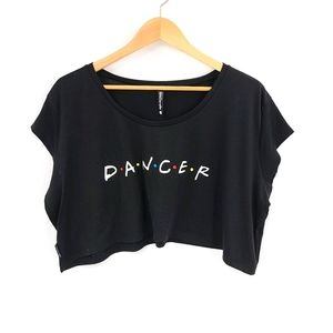Dancer Boxy Cropped Cotton Blend Tee
